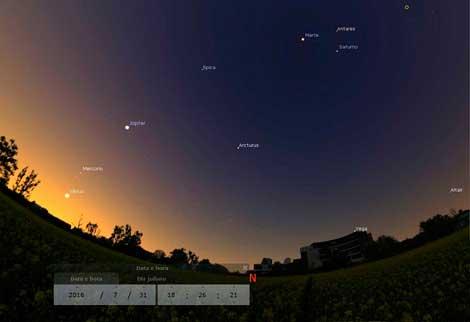 Arcturus vista da Terra.
