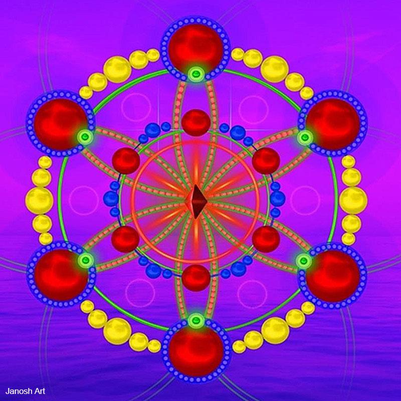 Geometria Sagrada Arcturiana Iniciação | Janosh Art