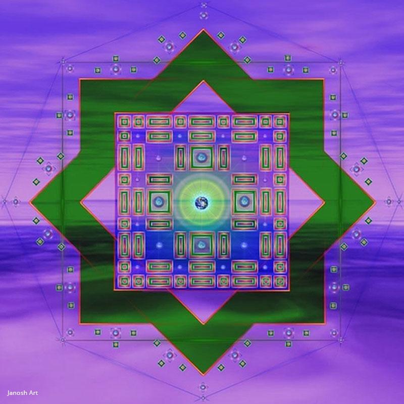 Geometria Sagrada Arcturiana Manifestação | Janosh Art